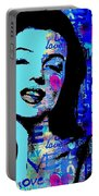 Marilyn Monroe.  Loved And Lost. Loved Again Portable Battery Charger