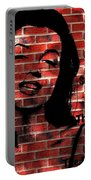 Marilyn Monroe On The Wall Portable Battery Charger
