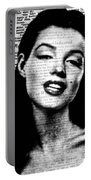 Marilyn Monroe On Vintage Newspaper Portable Battery Charger