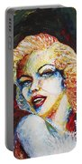 Marilyn Monroe Original Palette Knife Painting Portable Battery Charger