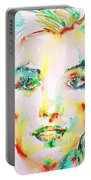 Marilyn Monroe Portrait.5 Portable Battery Charger
