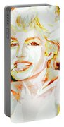Marilyn Monroe Portrait.9 Portable Battery Charger