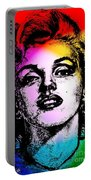 Marilyn Monroe Under Spotlights Portable Battery Charger