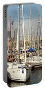Marina At Port Vell Barcelona Portable Battery Charger