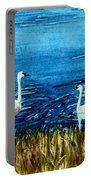 Marion Lake Swans Portable Battery Charger