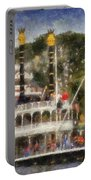 Mark Twain Riverboat Frontierland Disneyland Vertical Photo Art 02 Portable Battery Charger