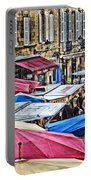 Market Day In Sarlat Portable Battery Charger