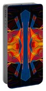 Marking Time Into Space Abstract Spiritual Artwork Portable Battery Charger
