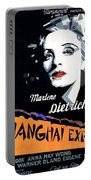 Marlene Dietrich Art Deco French Poster Shanghai Express 1932-2012 Portable Battery Charger