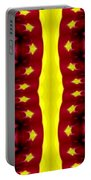 Maroon And Yellow Chrysanthemums 2 Polar Coordinates Effect Portable Battery Charger