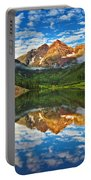Maroon Bells Fog Attack Portable Battery Charger