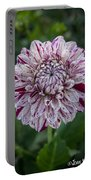 Maroon Speckled Dahlia Portable Battery Charger