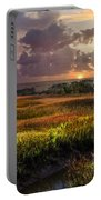 Marsh At Sunrise Portable Battery Charger