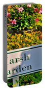 Marsh Garden Sign And Flowers Portable Battery Charger
