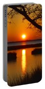 Ocean City Sunset At Old Landing Road Portable Battery Charger