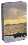 Marshall Point Lighthouse In Winter Maine  Portable Battery Charger