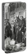 Martin Luther 1483 1546 Publicly Burning The Pope's Bull In 1521  Portable Battery Charger