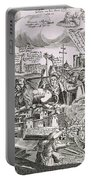 Martin Luther 1483 1546 Writing On The Church Door At Wittenberg In 1517  Portable Battery Charger by Swiss School