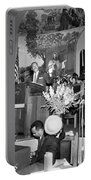 Martin Luther King Jnr 1929 1968 American Black Civil Rights Campaigner In The Pulpit Portable Battery Charger