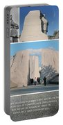 Martin Luther King Jr Memorial Collage 1 Portable Battery Charger