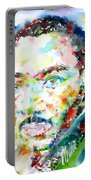 Martin Luther King Jr. - Watercolor Portrait Portable Battery Charger