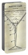 Martini Glass Patent Drawing Portable Battery Charger