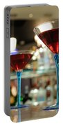 Martini Glasses In Bar Portable Battery Charger