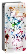Martini Watercolor  Portable Battery Charger