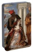 Martyrdom Of Saint Justina Portable Battery Charger