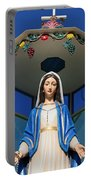 Mary And Grapes Portable Battery Charger