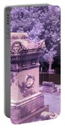 Mary And John Tyler Memorial Near Infrared Lavender And Pink Portable Battery Charger