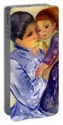 Mary Cassatt Helene De Septeuil In Watercolor Portable Battery Charger