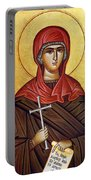 Mary In Brown  Portable Battery Charger