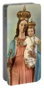 Mary Statue At Taybeh Village Portable Battery Charger