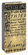 Maryland Bank Note, 1774 Portable Battery Charger