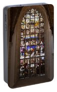Mary's Deathbed Religious Art In Oude Kerk Portable Battery Charger