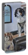 Mascots Of The Inn Portable Battery Charger by Donna Tuten