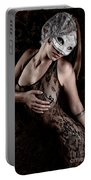 Mask And Lace Portable Battery Charger