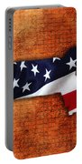 Massachusetts American Flag State Map Portable Battery Charger