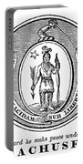 Massachusetts State Seal Portable Battery Charger