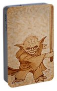 Master Yoda Jedi Fight Beer Painting Portable Battery Charger