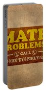 Math Problems Hotline Retro Humor Art Poster Portable Battery Charger by Design Turnpike