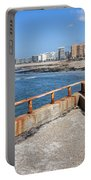 Matosinhos City Skyline In Portugal Portable Battery Charger