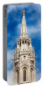 Matthias Church Bell Tower In Budapest Portable Battery Charger