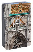 Matthias Church In Budapest Portable Battery Charger