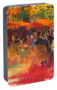 Maturing Sun, Paris Oil On Canvas Portable Battery Charger