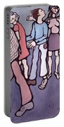 Maudsley Hospital Inmates, 1974 Oil On Canvas Portable Battery Charger