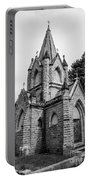 Mausoleum New England Black And White Portable Battery Charger