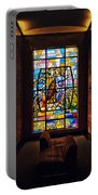 Mausoleum Stained Glass 01 Portable Battery Charger