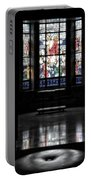 Mausoleum Stained Glass 05 Portable Battery Charger
